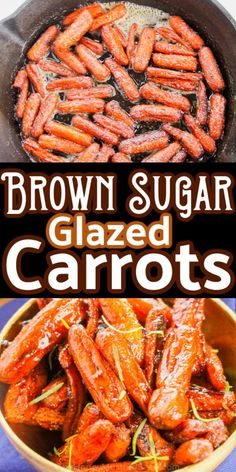 These Glazed Carrots are so easy and delicious and take just a few minutes to make. #carrots #sidedishes #brownsugar #Easter #Christmas #Dinner #recipes #dinnerrecipes Easy Thanksgiving Dinner, Thanksgiving Recipes, Candied Carrots, Glazed Carrots, Vegetable Side Dishes, Vegetable Recipes, Side Recipes, Easy Recipes, Cooking Recipes