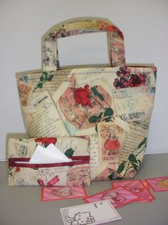 Vintage Valentine Tote Bag by NotWithoutAnnette on Etsy, $15.00