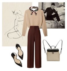"""""""Mademoiselle"""" by lesdentelles ❤ liked on Polyvore featuring Zephyr, Rosetta Getty, Jam Love and H&M"""