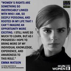 Emma Watson on being appointed as UN Women Goodwill Ambassador