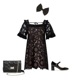 Cute in black by innocentnymph on Polyvore featuring polyvore fashion style For Love & Lemons Rochas Mossimo clothing
