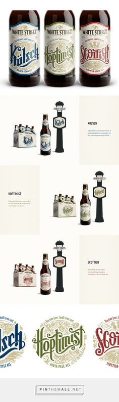 White Street Brewing Co. packaging design by The Brandit (USA) - http://www.packagingoftheworld.com/2016/04/white-street-brewing-co.html