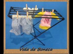 Como fazer varal de roupas para nossas bonecas