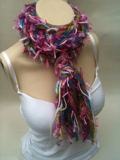 Handwoven Bohemian Shabby Chic Scarf  cowl  lariat by sparkxcrafts, £15.00