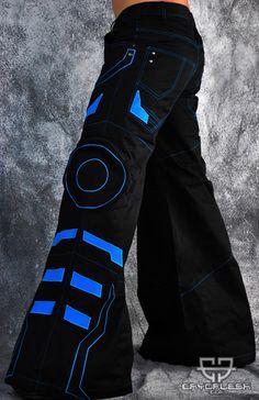 Cryo Tron Pants Black/Neon Blue