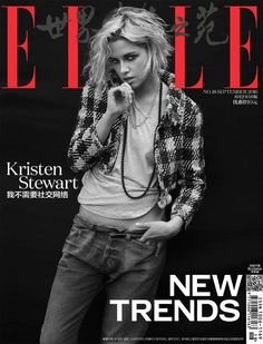Kristen Stewart on ELLE China Magazine September 2016 Cover