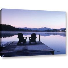 Linda Parker Mirror Lake, Lake Placid Gallery-Wrapped Canvas, Size: 24 x 32, White
