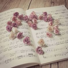 New Music Pictures Photography Instruments Plays Ideas Music Wallpaper, Flower Wallpaper, Music Aesthetic, Pink Aesthetic, Book Flowers, Guitar Photography, Music Pictures, Love Images, Beautiful Pictures