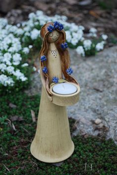 Keramická víla - svícen víla keramika svícen lampa lampy keramický víly z keramiky na svíčku