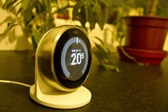 124-365 Nest - Photo a Day Project - The thermostat on my heating boiler hasn't worked for some time and the cost of fixing was the same as a Nest Smart Thermostat so I treated myself. I had tested it when we installed one at dads which was ideal as I can keep an eye on his heating from my phone. The Nest knows when you're not in the house and future changes in the weather so that the house is always at the right temperature.#PhotoADay #Nest