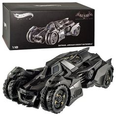 "It's The Hot Wheels Elite 1:18 Scale Diecast - Batman Arkham Knight Batmobile. Based on the Batmobile in the Arkham Knight video game. Measures about 13"" long x 6"" wide. Doors open to reveal a very de"