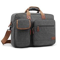 Mens Briefcase Mens PU Leather Laptop Bag Office Briefcase Huge Shoulder Bag Water Resistant Business Messenger Briefcases for Women Multi Functional Crossbody bag Fits 14 13 Inch Laptop Tablet Bla