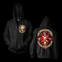Five Finger Death Punch Bonehead Cross Hoodie