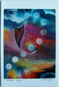 $6.99  Native Fine ART Card Blank October Moon BY Wabimeguil Betty Albert Lincez | eBay  #holiday #stationary #greetingcard