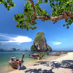 Amazing paradise beaches at krabi thailand