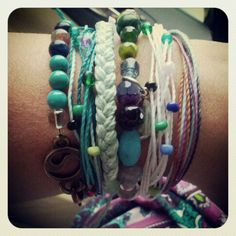 Stacking fun with Energy Muse, Puravida & Chavez for Charity Bracelets!