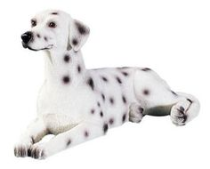 """Handcrafted, Hand painted DALMATION cold cast resin - 3"""""""