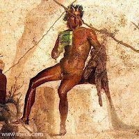 14 februari 2012: Valentijn. Afbeelding: de Grieks-Romeinse god Pan op een fresco in Pompeï