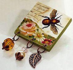 Decoupaged jewelry...gorgeous!