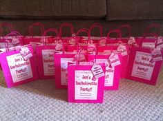 Hen night party bags!