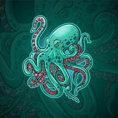 Kraken octopus maskottchen esport logo d. Kraken Octopus, Kraken Logo, Kraken Art, Octopus Drawing, Octopus Wall Art, Octopus Painting, Logo Esport, Peaky Blinders Wallpaper, Octopus Design