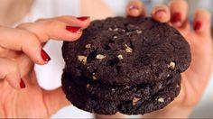 Double Chocolate Cookies Rezept als Back-Video zum selber machen! Ganz einfach Schritt für Schritt erklärt!