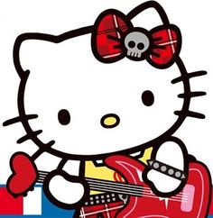 Hello Kitty is a lefty 😍 Sanrio Hello Kitty, Hello Kitty Art, Hello Kitty Pictures, Here Kitty Kitty, Hello Kitty Wallpaper, Rainbow Brite, Sanrio Characters, Little Twin Stars, My Melody