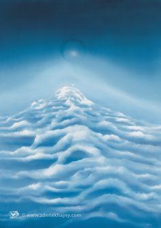 Oblaka ticha, 1984, olej, 100 x 70 - ZDENĚK HAJNÝ - Galerie Cesty ke světlu