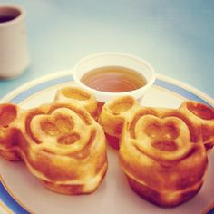 Disney waffles. So much better tasting than normal waffles, cos they're disney shaped of course!