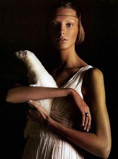 Daria Werbowy by Mario Sorrenti for Vogue Italia February 2005