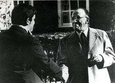 Santiago Carrillo durante un paseo por la Universidad de Harvard, donde el 22 de noviembre de 1977 pronunció una conferencia. Foto Cifra Gráfica-UPI.