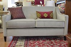 Handmade Hogarth sofas 3 and 2 seater suite Parker & Farr Grey Velvet Luxurious