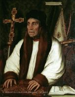 William Warham (c.1450-1532) Bishop of London then Archbishop of Canterbury and finally Chancellor of Oxford University, Warham played a crucial diplomatic role in negotiations between England and the Papacy, notably in the annulment of Henry VIII's marriage to Catherine of Aragon, which he himself had blessed in 1509.