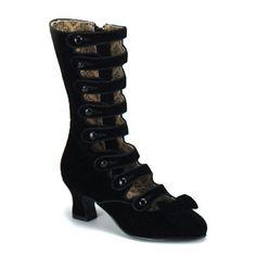 90s does 60s Vtg Black Velvet Knee High Stretchy Sock Boot with Chain Link Detail  Mod GOGO Goth Platform Chunky Block Heel 9 EU 40