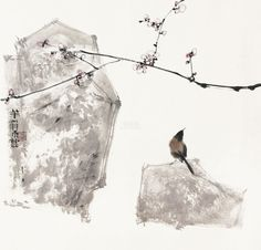 yama-bato: Qin Tianzhu via Chinese Picture, Chinese Artwork, Chinese Painting, Zen Painting, Japan Painting, Japanese Art Modern, Japanese Watercolor, Art Chinois, China Art