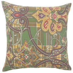 Keil Damask Cotton Throw Pillow