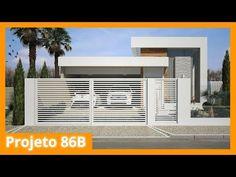 Modelo de casa térrea moderna - 86B - YouTube