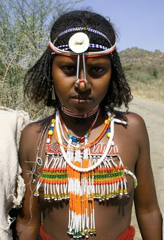 Africa |  Portrait of an Afar Girl, Ethiopia | © Earth Cultures