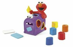 Fisher-Price Sesame Street Elmo's Mailbox Sorter. Elmo's Mailbox Sorter. Mail your letters with Elmo. Sort your colors, shape. Features 2 envelopes and 5 shapes. Can also raise and lower the flag.