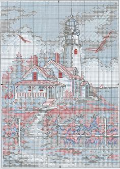 Beautiful Lighthouse Cross Stitch Pattern 2