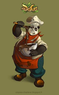 Dofus Pandawa chocolate maker by Catell-Ruz.deviantart.com on @deviantART