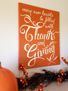 Thanksgiving Holiday Fall Decoration Painted by TheBarnWoodSign