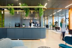 Fokkema & Partners Architecten created a tailored office – one that doesn't look or feel like a workspace – for Edge Technologies' new home base in the Dutch capital. Office Interior Design, Office Interiors, Corporate Interiors, Office Designs, Traditional Office, Co Working, Interior Architecture, Chinese Architecture, Futuristic Architecture