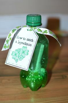 Great St. Pat's activity...plus a printable for kids to write about how to catch a leprechaun!