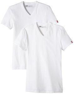 Levi's Homme Slim 2 Pack V Neck T-shirt Manches Courtes, Blanc, Medium Levi's http://www.amazon.fr/dp/B004OWXDE0/ref=cm_sw_r_pi_dp_yieewb0AN3HME