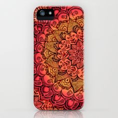 Ruby & Garnet Doodle iPhone & iPod Case by Micklyn - $35.00