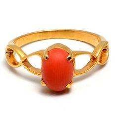 Red Coral Gemstone Rings