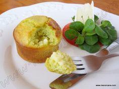 Magdalenas saladas de calabacín y brie