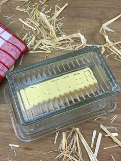 Old Fashioned Glass Butter Dish from The Holiday Barn
