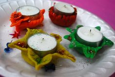 Diwali festival of lights candle craft Space Crafts For Kids, Holiday Crafts For Kids, Autumn Crafts, Craft Projects For Kids, Craft Activities For Kids, Kids Crafts, Celebration Around The World, Diwali Celebration, Diwali Craft For Children